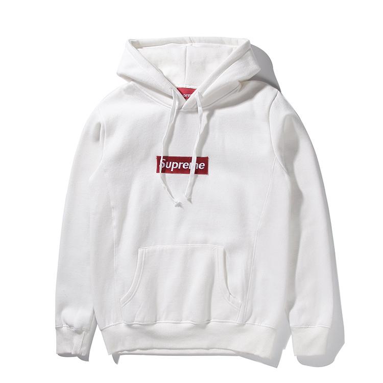 Supreme (シュプリーム) 15FW ボックス ロゴ フーデット スウェットシャツ パーカー(Box Logo Hooded Sweatshirt Pullover) ホワイト 002