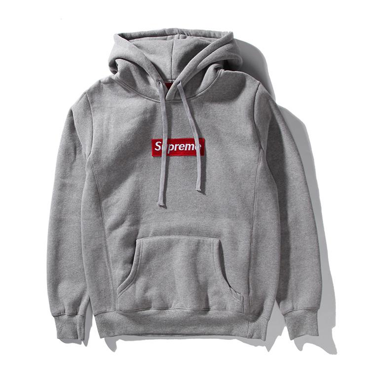 15FW Supreme (シュプリーム) Box Logo Hooded Sweatshirt パーカー グレー