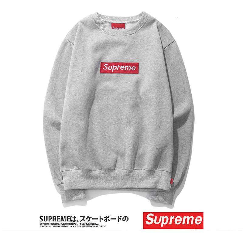 Supreme (シュプリーム) 15FW ボックスロゴ クルーネック スウェットシャツ(Box Logo Crewneck Sweatshirt) グレー