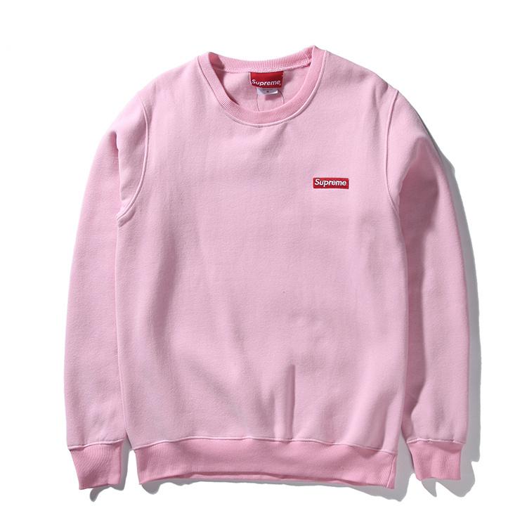 Supreme (シュプリーム) 15FW スモールボックスピキュークルーネック スウェットシャツ(Small Box Pique Crewneck Sweatshirt) ピンク