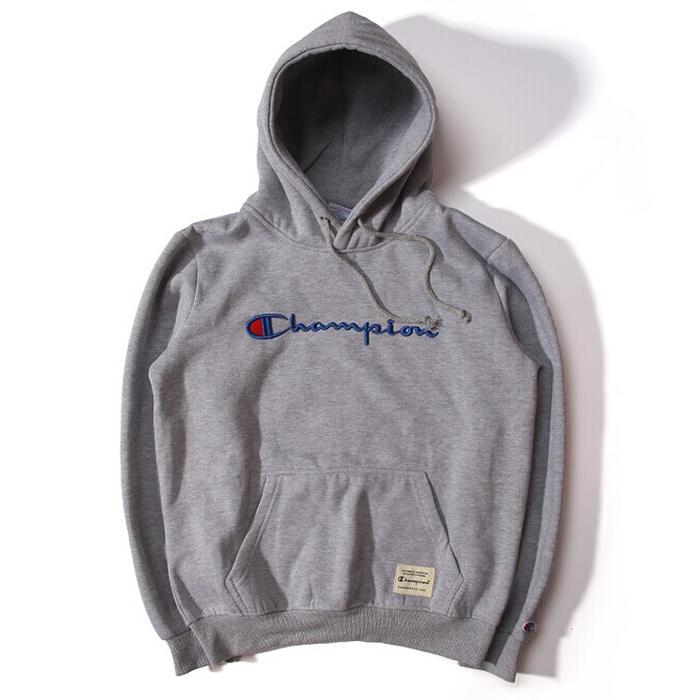 Supreme (シュプリーム) 16AW チャンピオンフード付きスエットシャツ グレー