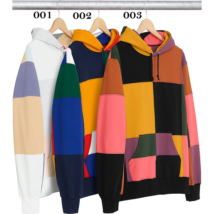 17FW Supreme (シュプリーム) Patchwork Hooded Sweatshirt フーデッド パーカー 3色