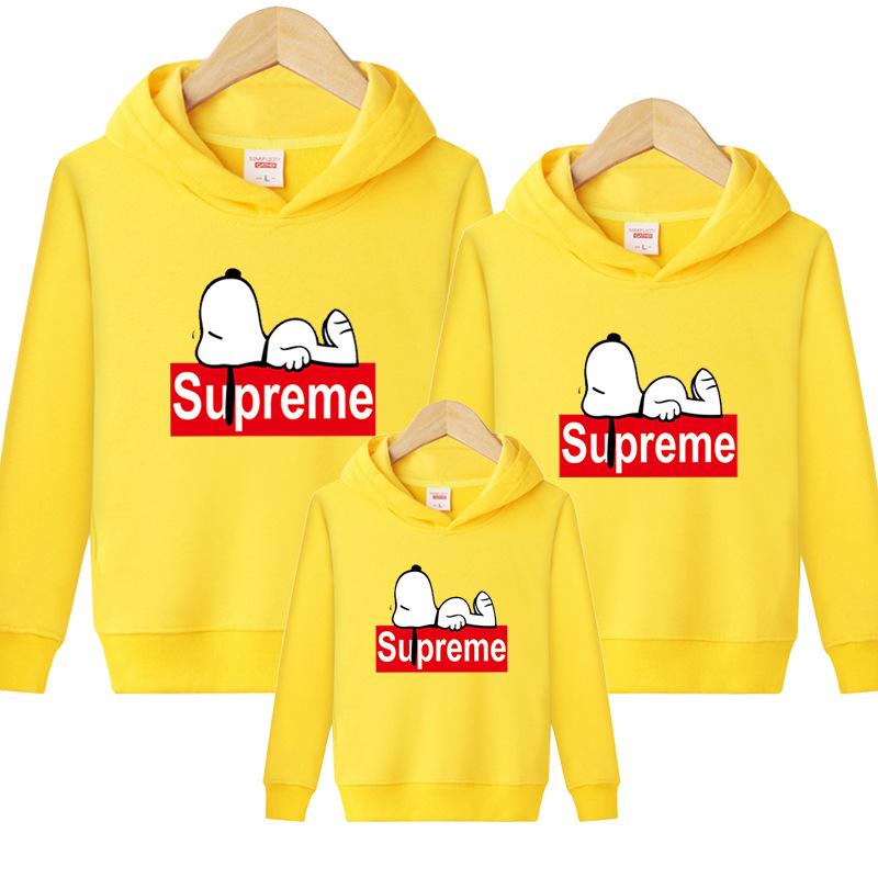 Supreme Snoopy Carton 親子お揃い三つセット イェロー