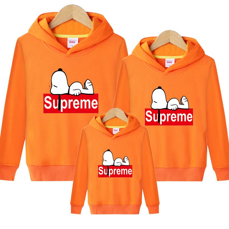 Supreme Snoopy Carton 親子お揃い三つセット オレンジ