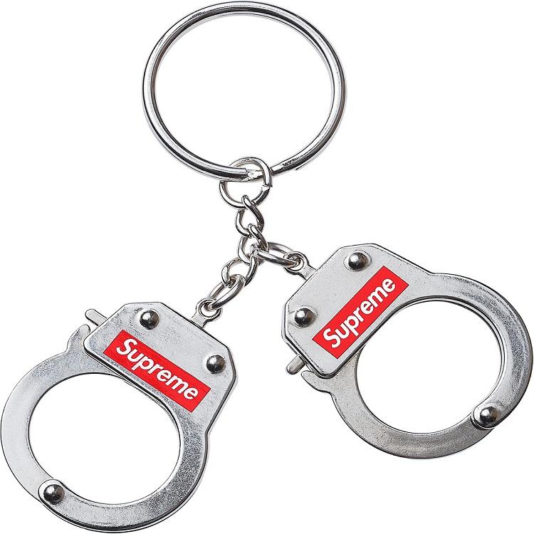17FW Supreme(シュプリーム) Handcuffs Keychain ボックスロゴ手錠 キーチェーン