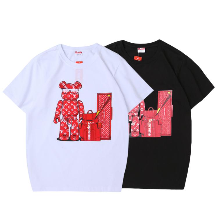 Supreme (シュプリーム) Cartoon Bear Printed Crewneck Tシャツ 2色