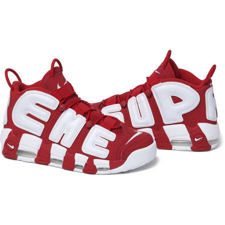 2017 新 Supreme x Nike Air More Uptempo 【ナイキ エア モア アップテンポ 】Red/White レッド/ホワイト