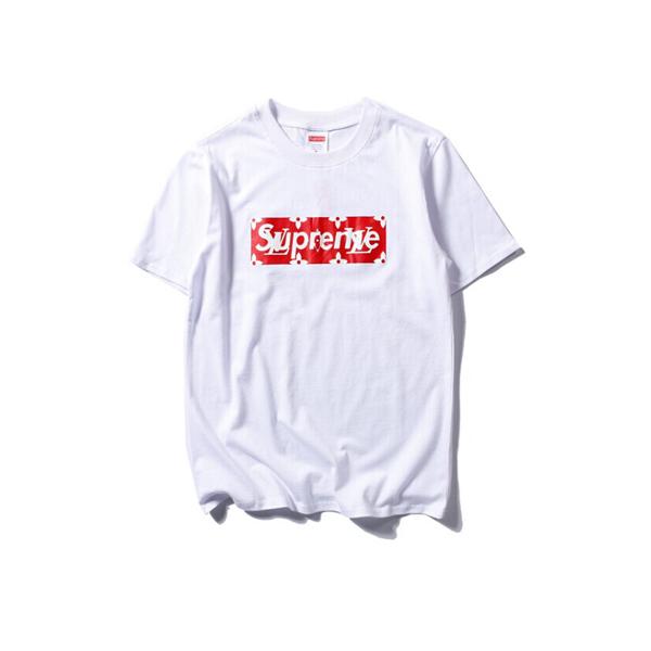 2017 大人気ブランド supreme x Louis vuitton Tシャツ ホワイト