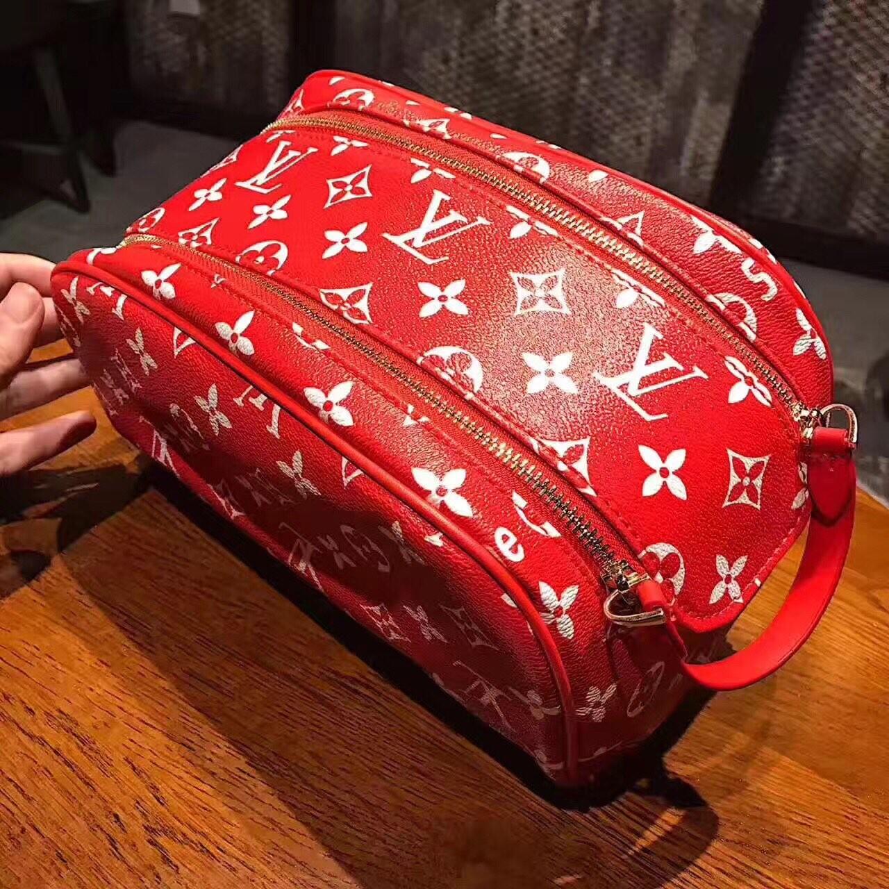 人気ブランド Supreme X Louis Vuitton レディース 化粧用バッグ