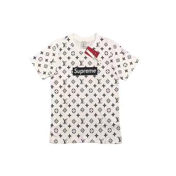 2017 大人気ブランド Supreme X Louis Vuitton 半袖Tシャツ ホワイトWhite