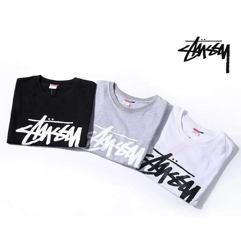 2017 大人気ブランド Supreme X Stussy Logo Tシャツ 3色