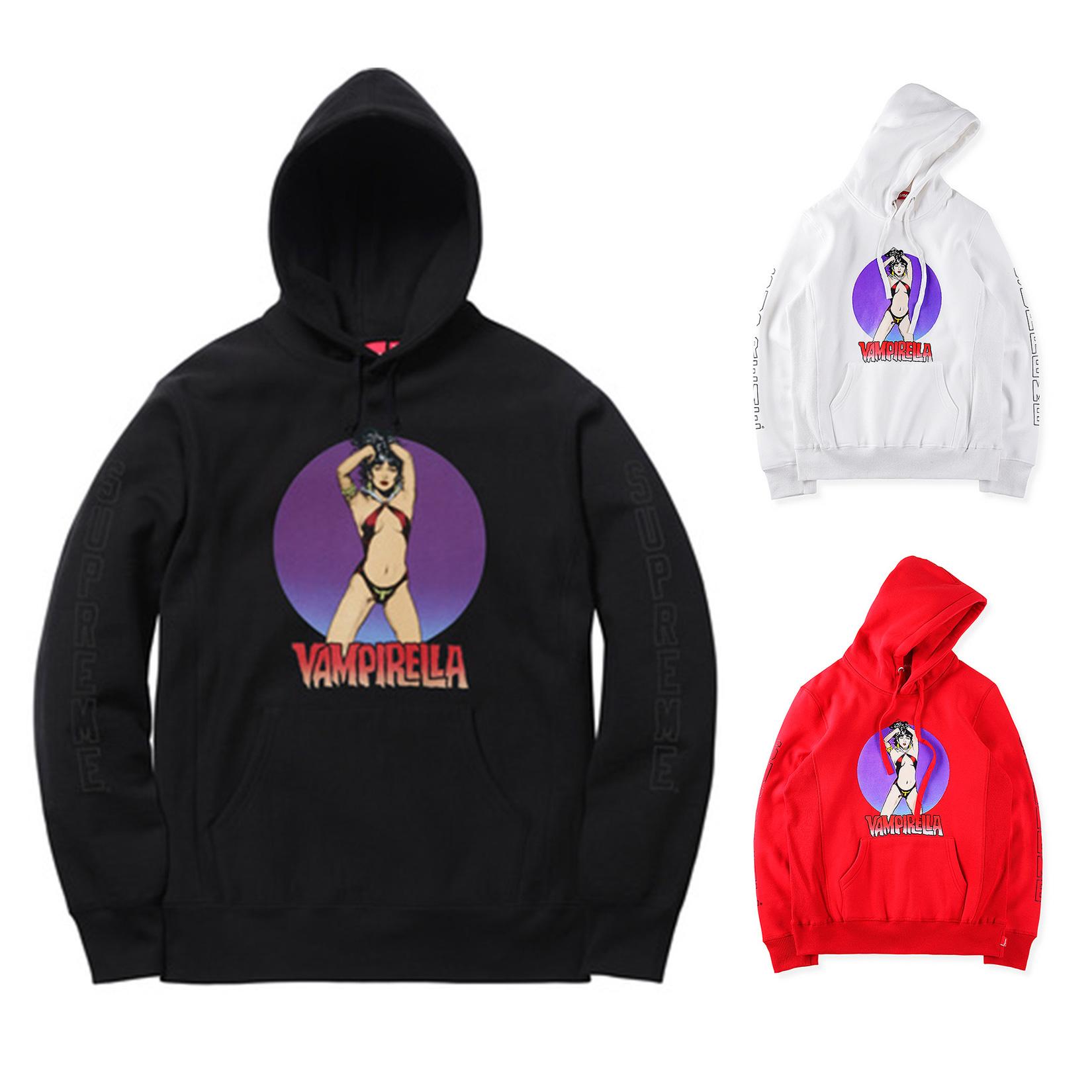 17SS Supreme (シュプリーム) Vampirella Hooded Sweatshirt フーデッド パーカー 3 色