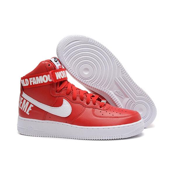 Supreme X Nike Air Force 1 High スニーカー Red