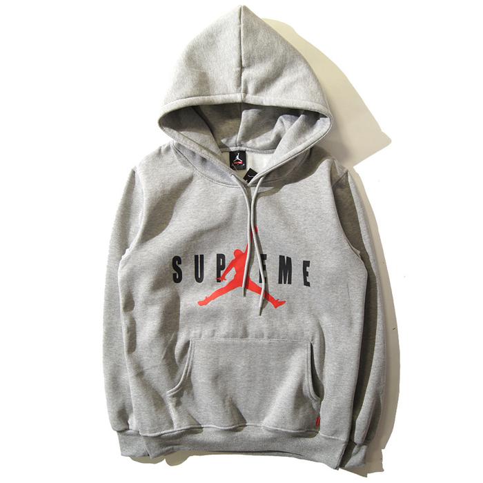 Supreme×Jordan シュプリーム Hooded Sweatshirt パーカー box グレー