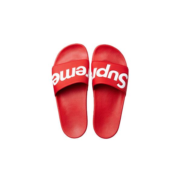 14S/S Supreme シュプリーム Slides Sandals Red