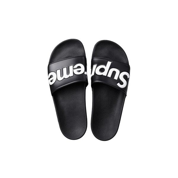 14S/S Supreme シュプリーム Slides Sandals Black