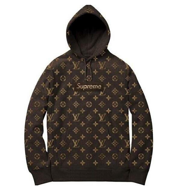 大人気ブランド Supreme X Louis Vuitton パーカー コーヒー