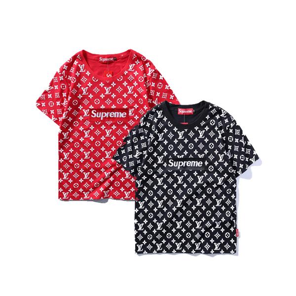 2017 大人気ブランド Supreme X Louis Vuitton 半袖Tシャツ 2色