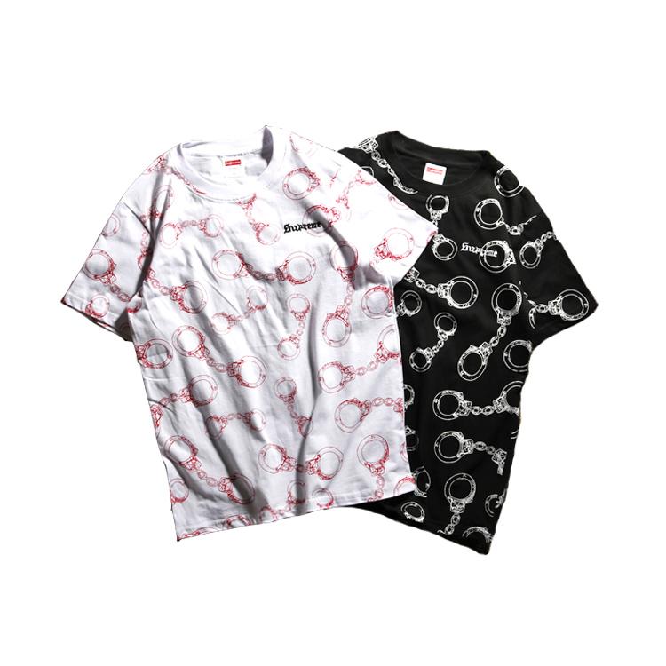 Supreme (シュプリーム) Handcuffs Tシャツ 2色
