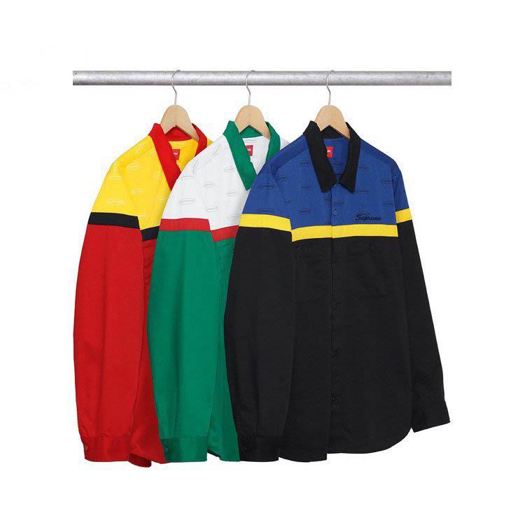 17FW Supreme (シュプリーム) Color Blocked Work Shirt シャツ 3色