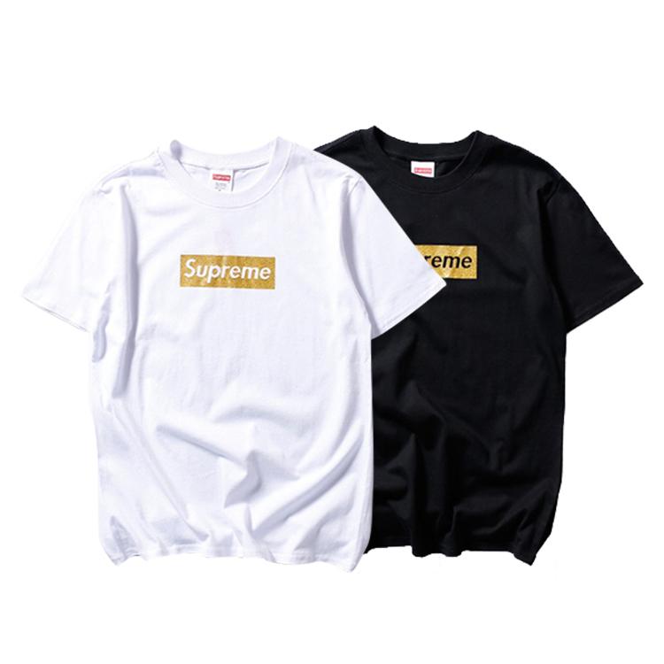 Supreme (シュプリーム) Golden Box Logo Tシャツ 2色