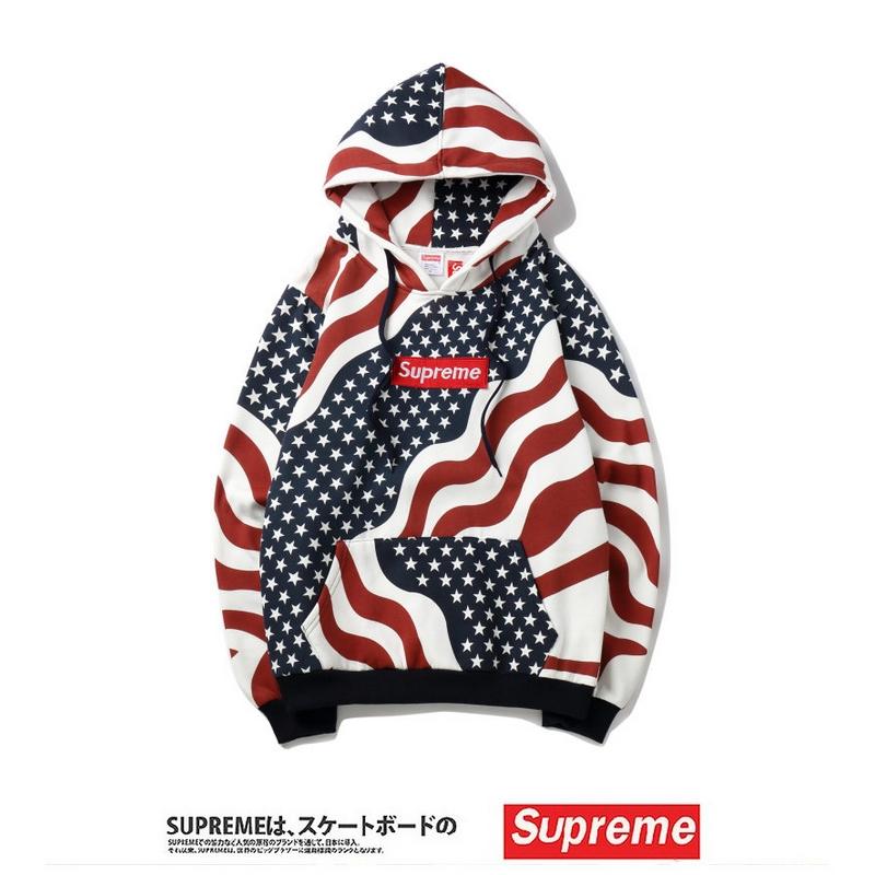 18FW Supreme Star Flag フーデッド パーカー
