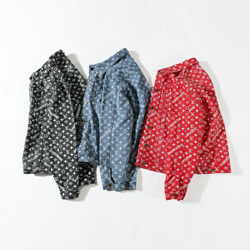 Supreme X Louis VuittonAll Over Print Denim ジャケット3色