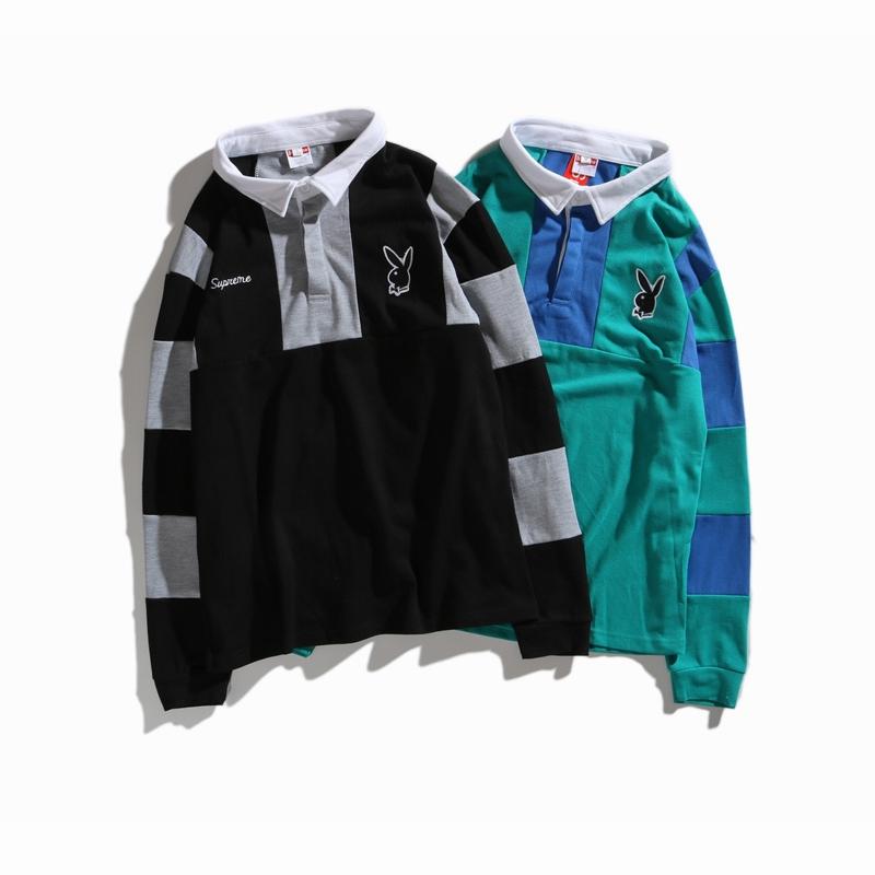 18SS Supreme X Playboy ラグビーシャツ 2色